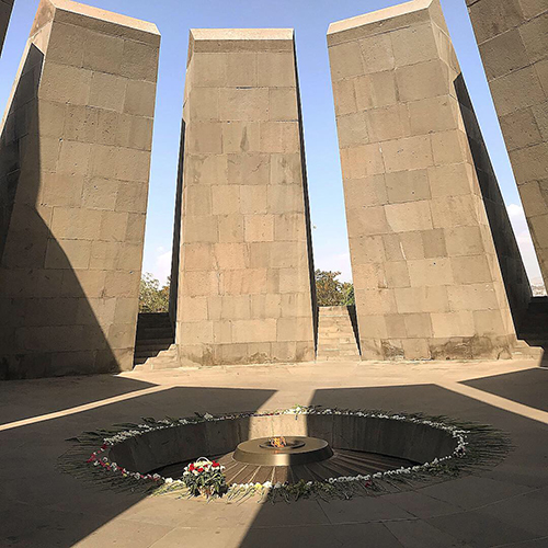 The Armenian Genocide Martyrs Monument, better known as Montebello Genocide Memorial, is a monument in Montebello, California in the Los Angeles metropolitan area, dedicated to the victims of the Armenian Genocide of 1915.